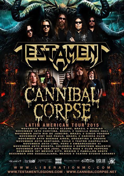 Testament e Cannibal Corpse